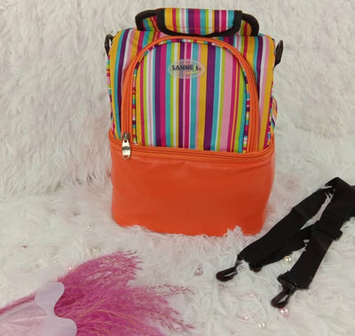 Sannea double compartment thermal & cooler bag Orange