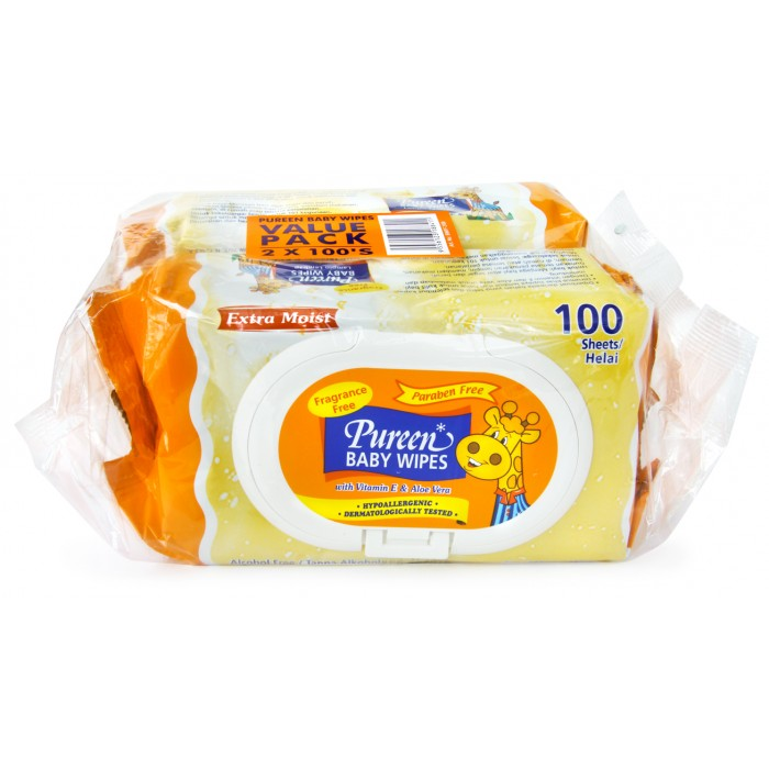 Pureen Baby Wipes 100s (Twins Pack)