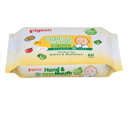 Pigeon Hand & Mouth Wipes 60's
