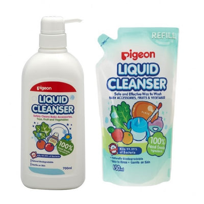 Pigeon Liquid Cleanser 700ml + Refill 650ml
