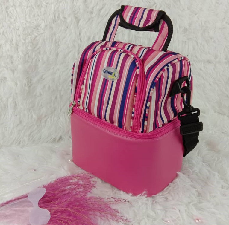 Sannea double compartment thermal & cooler bag Pink