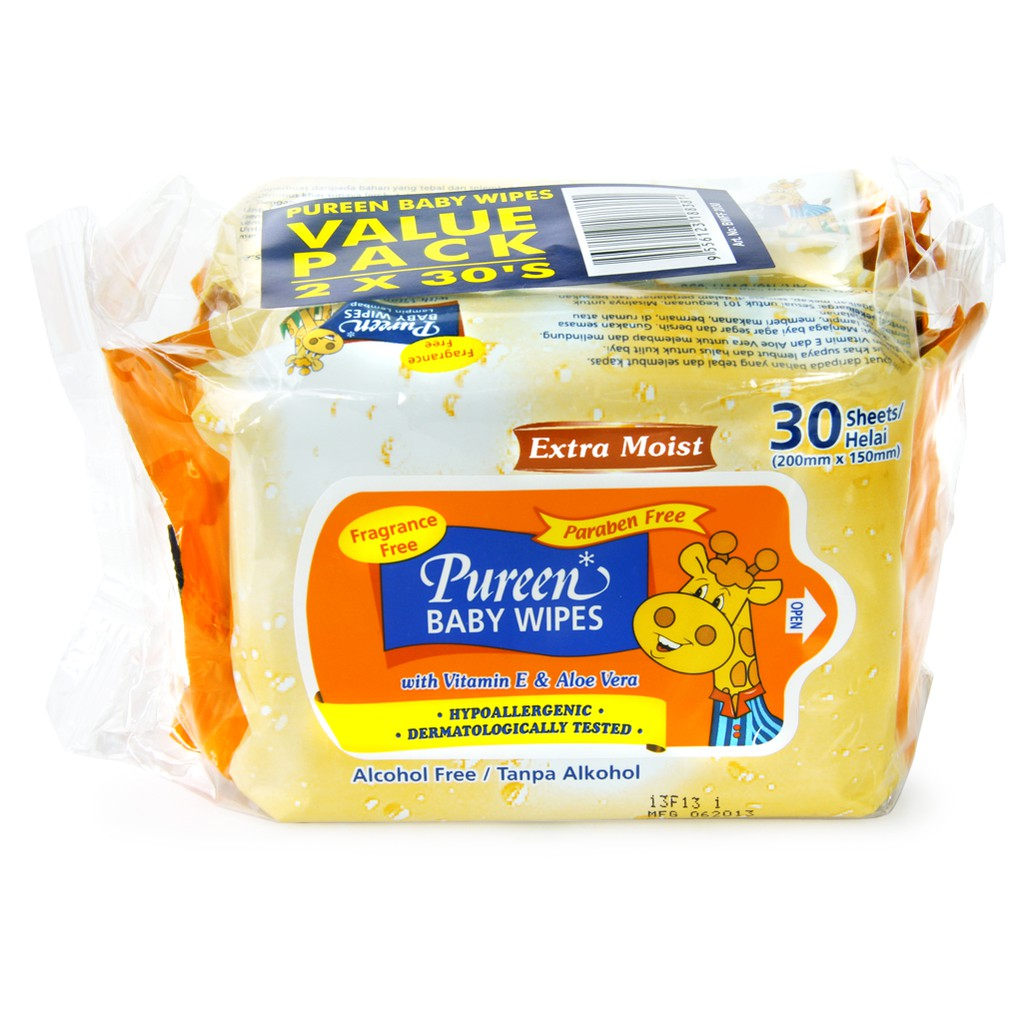Pureen Baby Wipes 30's (Twins Pack)