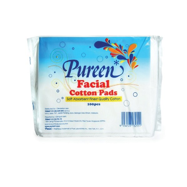 Pureen Facial Cotton Pads 100s