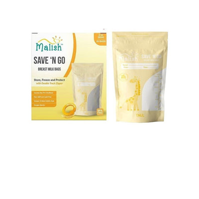 Malish Save N Go Breastmilk Bag (6oz /180ml) ( 28pcs )