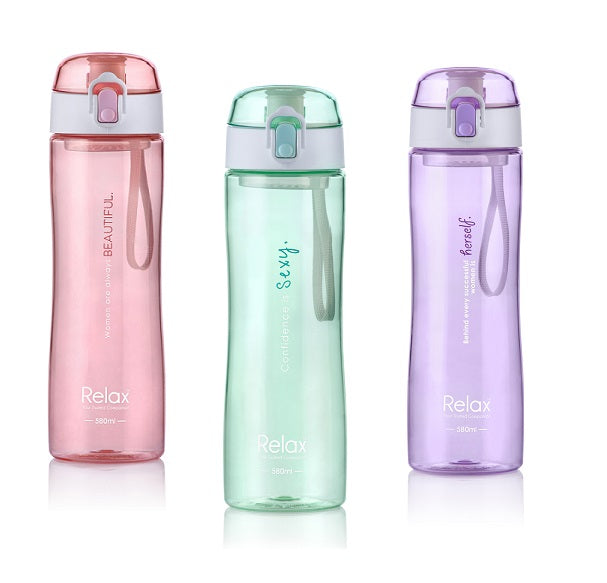 Relax Tritan Water Bottle 580ml (Assorted)