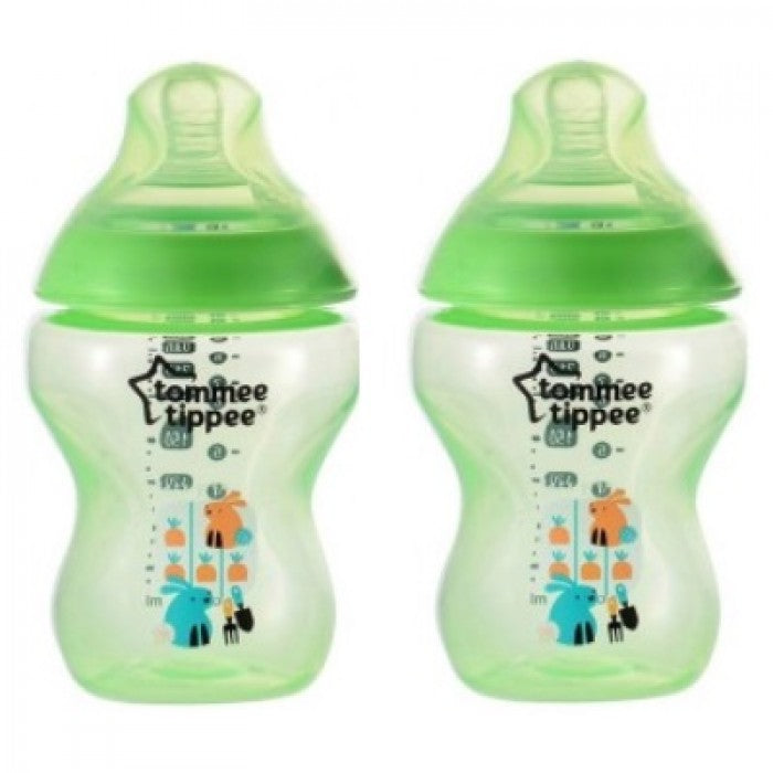 Tommee Tippee Closure To Nature 260ml Tinted PP Bottle (Green- 2pcs)