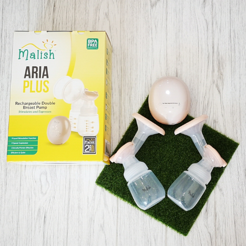 Malish Aria Plus Rechargeable Double Breast pump + FREE Malish Hands Free Kit [2 Years Warranty]