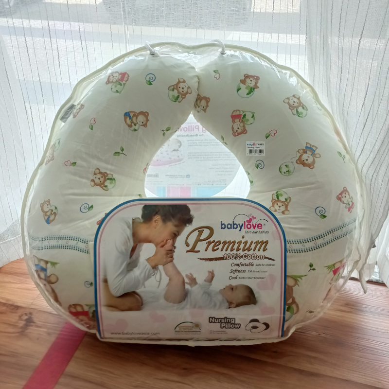 Baby Love Premium Nursing Pillow ( Assorted ) + Case ( Assorted )
