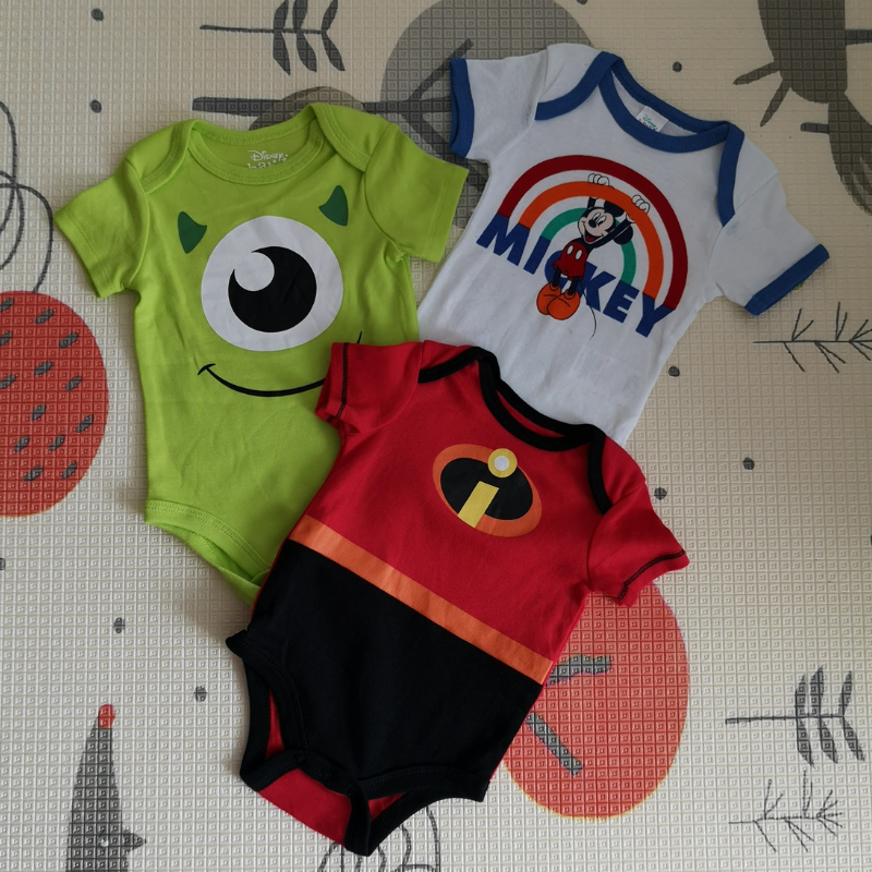 Luvable Friends Disney Rompers 3pcs [Boy/Girl] (Assorted)