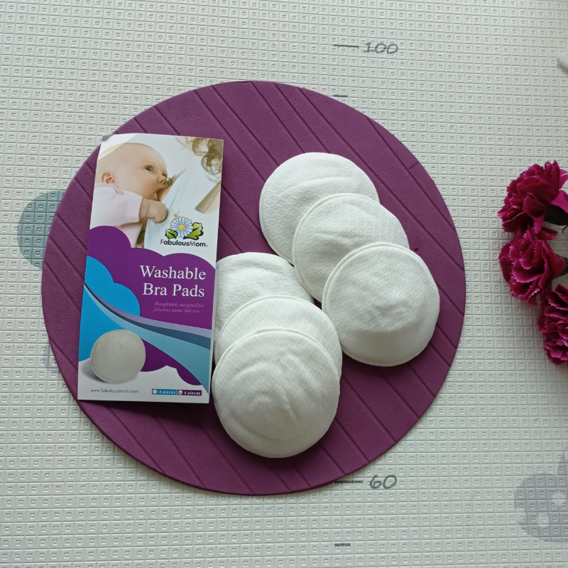 Fabulous Mom Washable Bra Pads 6pcs (Off White)