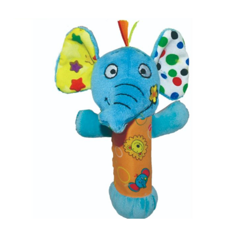 Biba Toys Squeakie Hand Toy - [Lion/ Elephant]