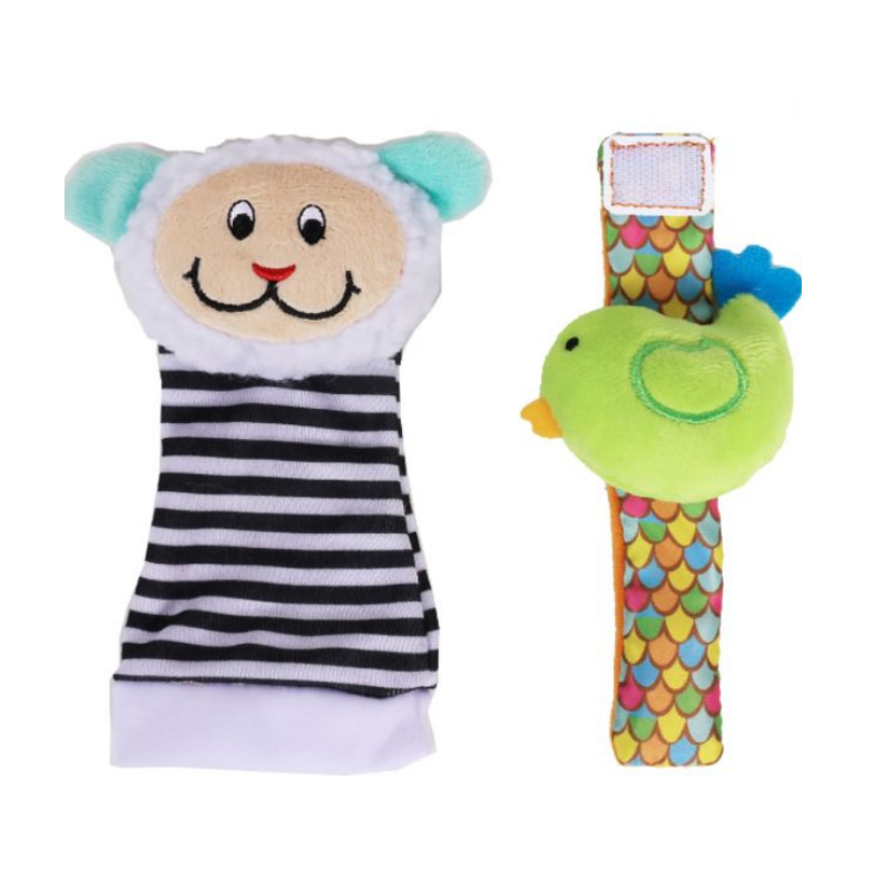Biba Toys Foot & Wrist Rattle - [Lamb/Cow]