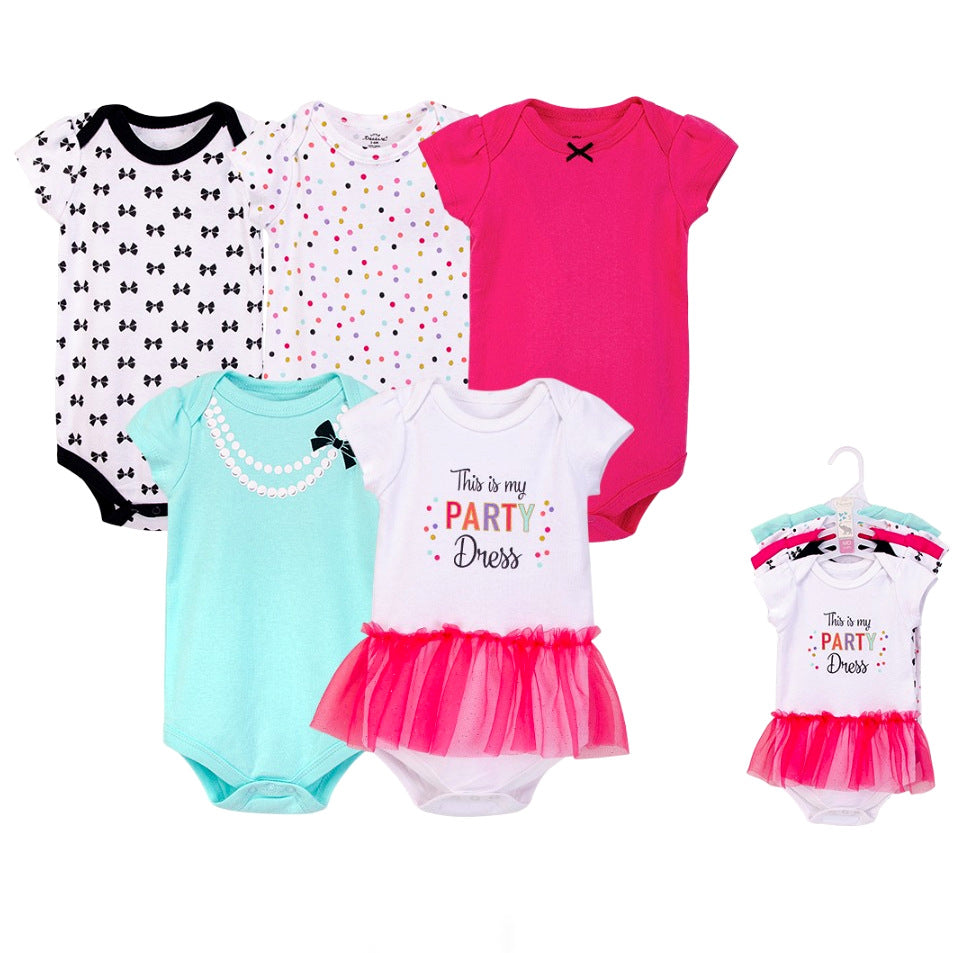 Luvable Friends Bodysuit 5pk (This is My Party Dress)