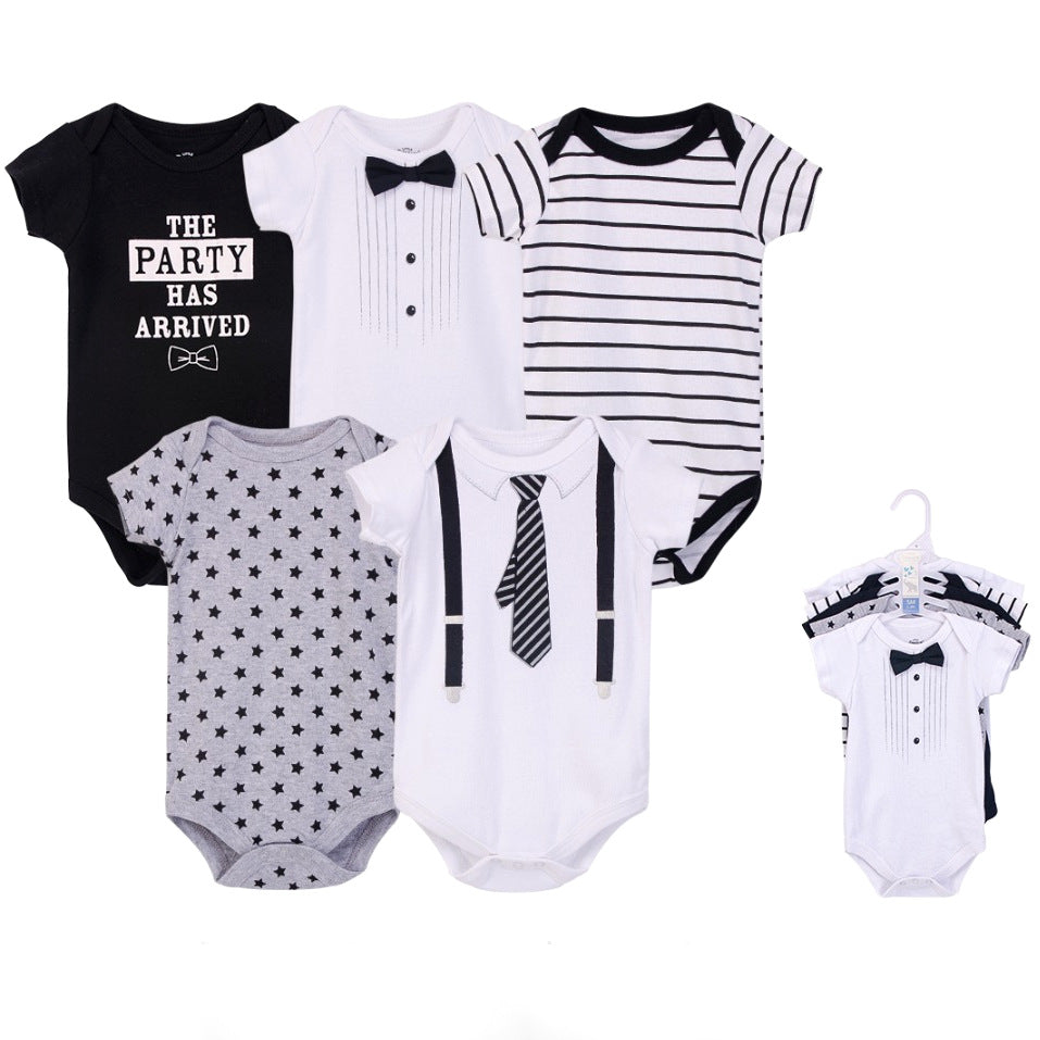 Luvable Friends Bodysuit 5pk (The Party Has Arrived)