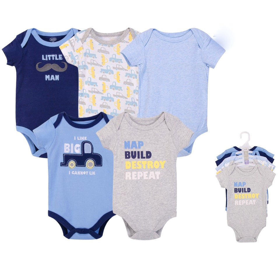 Luvable Friends Bodysuit 5pk (Nap, Build, Destroy, Repeat)