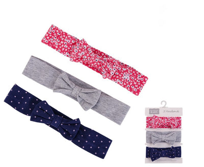 Luvable Friends 3pk Headband (0-24m) (Assorted)