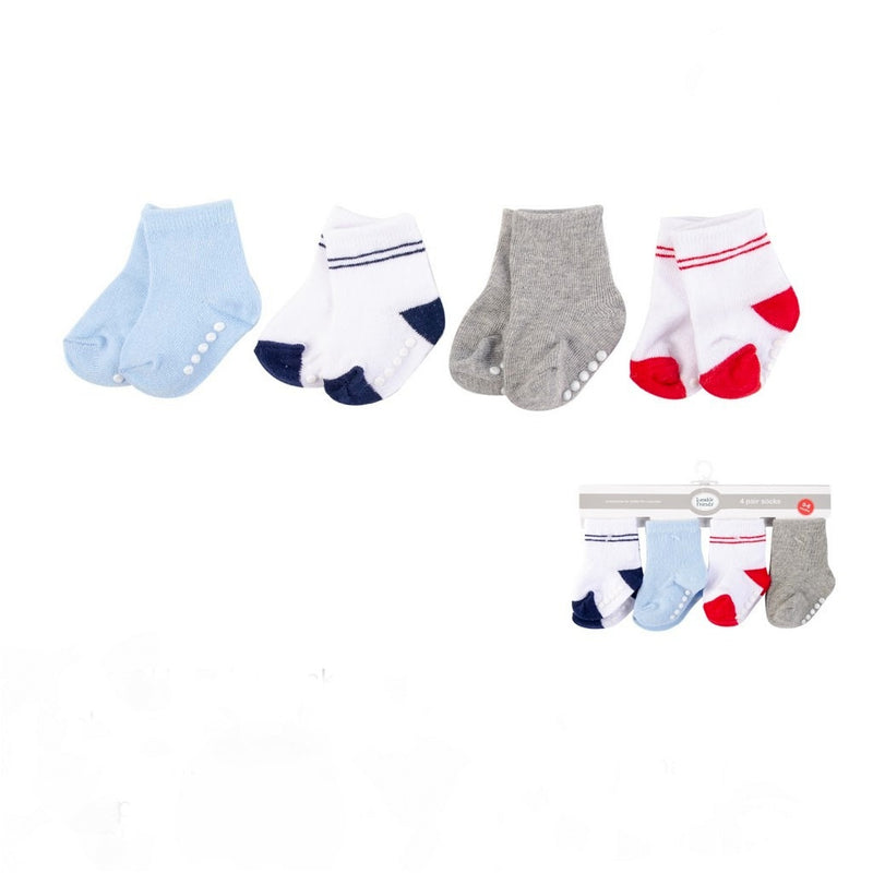 Luvable Friends 4pk Baby Socks (Boys)