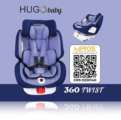 Hugo Baby 360 Twist Car Seat [Red/Grey/Blue] [6 Year Warranty]