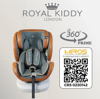 Royal Kiddy 360 Beyond Isofix Car Seat [Red/Blue] [6 Year Warranty]
