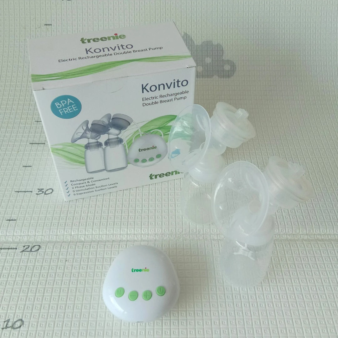 Treenie Konvito Electric Rechargeable Double Breast Pump  [ 1 Years Service Warranty ]