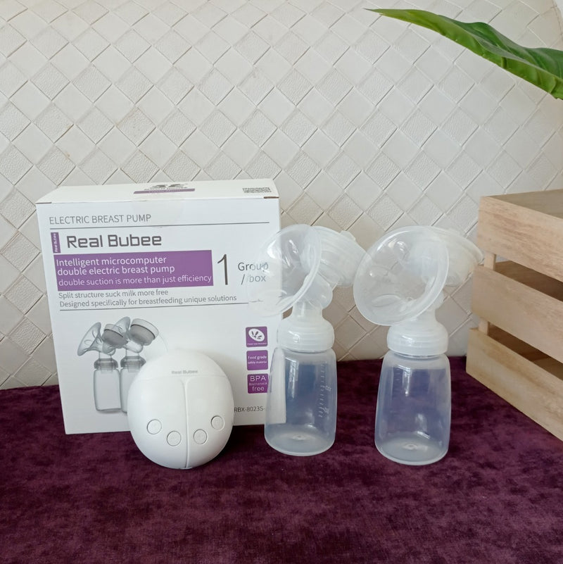 Real Bubee Electric Double Breast Pump + Free Gifts [ No Warranty ]