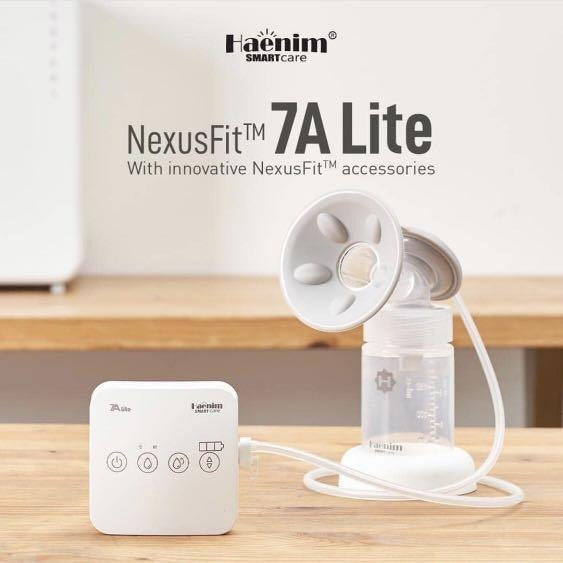 Haenim 7A Lite Double Breast Pump + FREE Hands Free Cups [ 1 Year Service Warranty ]