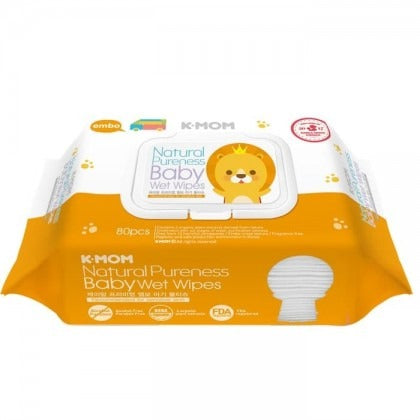 K-Mom Natural Pureness Baby Wet Wipes 80's
