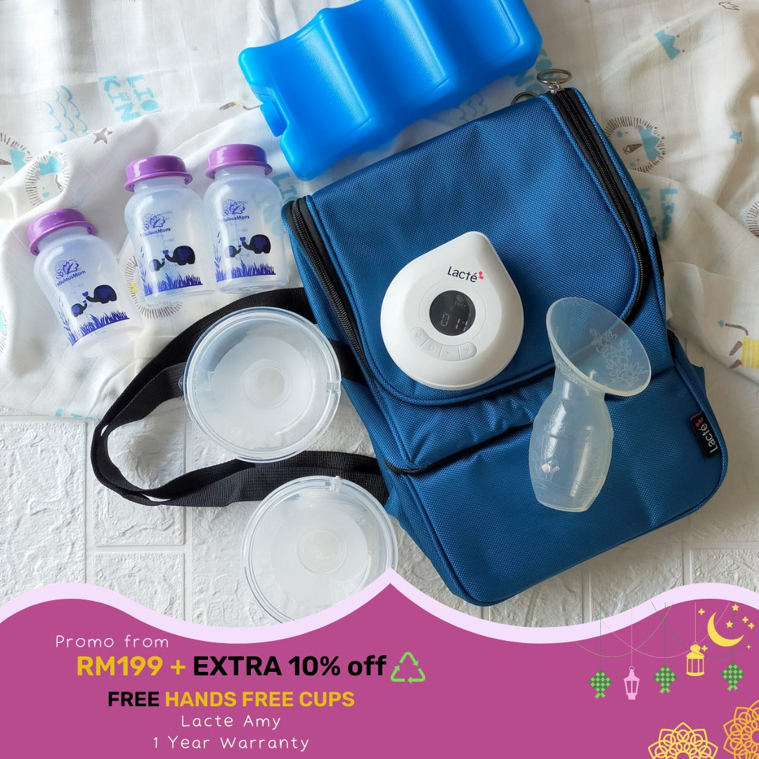 Lacte Amy Rechargable Breastpump + FREE Hands Free Cups [ 1 Year Warranty ]