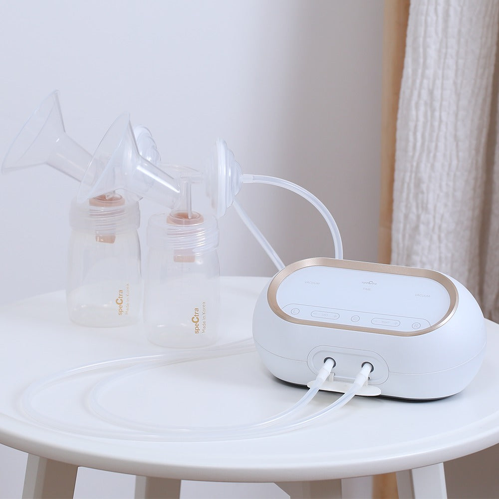 [NEW!] Spectra Dual Compact Portable Double Breast Pump + FREE Spectra Hands Free Cup [ 2 Years Service Warranty ]