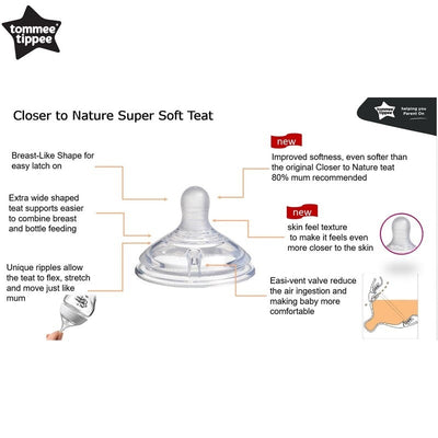 Tommee Tippee Closure To Nature with Super Soft Silicone Teat 260ml Tinted PP Bottle (Black)