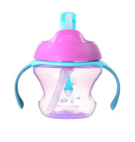 Tommee Tippee First Straw Cup 150ml (Pink Purple)