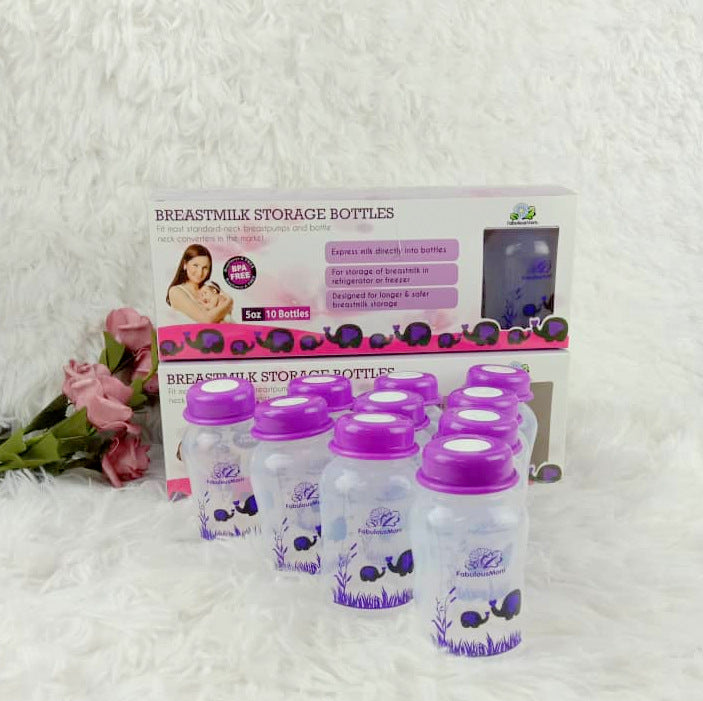 [9-11 Nov 3 days only] Fabulous Mom Breastmilk Storage Bottle 10s