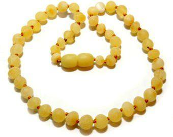 Little Buddy Amber Healing Necklace (Buttery Champagne)