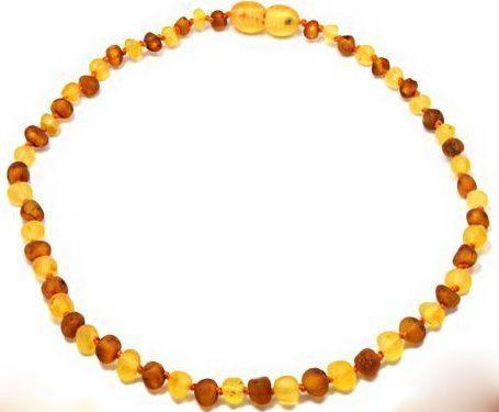 Little Buddy Amber Teething Necklace (Milky & Dark Honey)