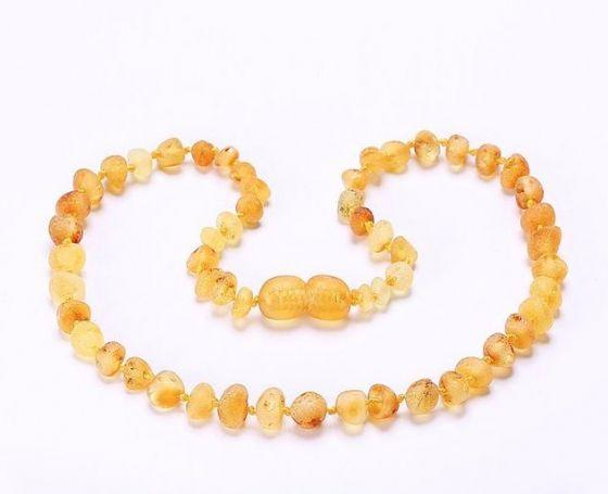 Little Buddy Amber Teething Necklace (Champagne)