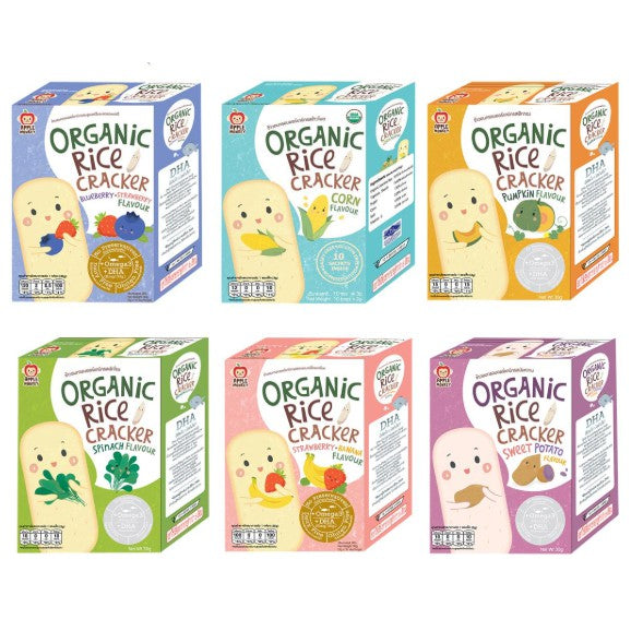 Apple Monkey Organic Rice Cracker ( Assorted )