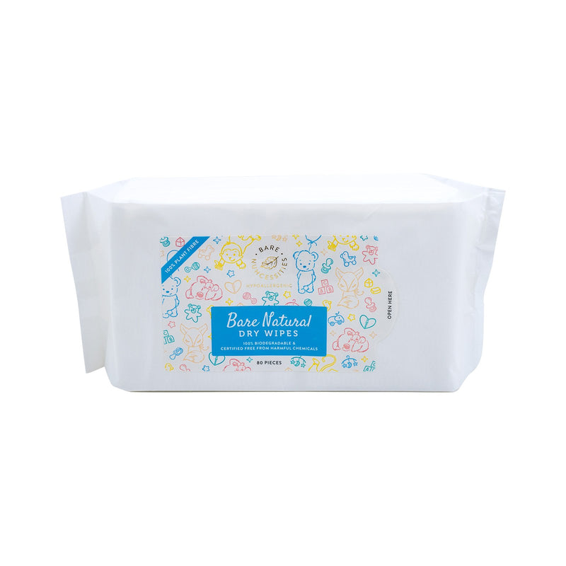 Bare Nuhcessities Natural Dry Wipes 80s