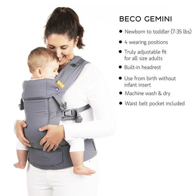 Beco Gemini Baby Carrier (Scribble Too) + Free Chewie Pad