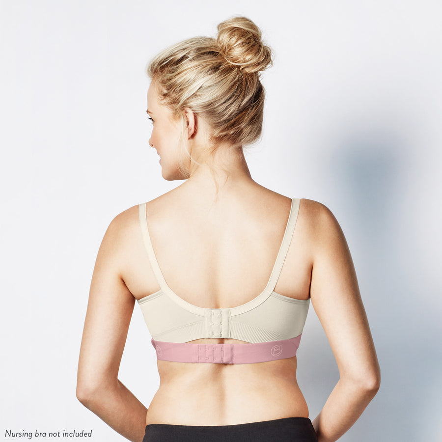 Bravado Clip and Pump Hands Free Nursing Bra Accessories (Dove Heather With Dusted Peony)