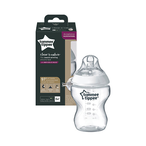Tommee Tippee Closer To Nature PP Bottle with Easi-Vent Valve [260ml/9oz]