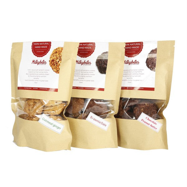 MilkyBites Lactation Cookies Brownie Date (400g)