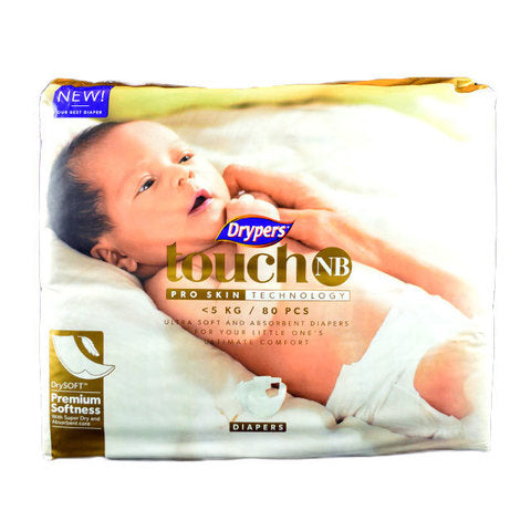 Drypers Touch Mega Pack New Born 80's