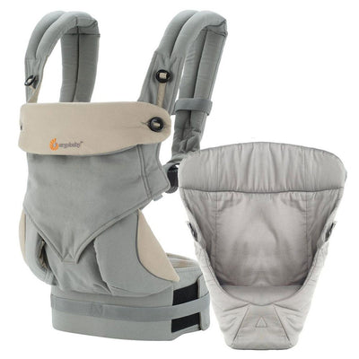 Ergo Baby 360 Bundle of Joy Baby Carrier [with Infant Insert] [Grey]