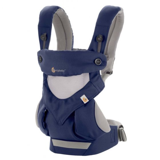Ergo Baby Carrier Performance 360 Cool Air ( French Blue) + FREE Chewie Pad