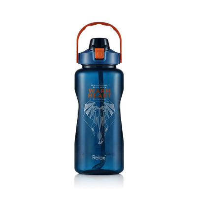 Relax Tritan Water Bottle With Straw & Hand Holder 2000ml