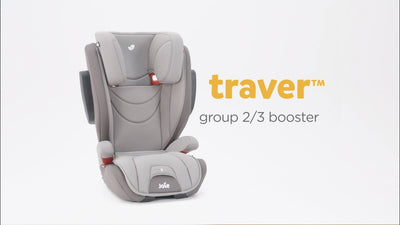 Joie Traver Isosafe Booster Car Seat [Coal] [1 Year Warranty] + RM18 Instant Rebate