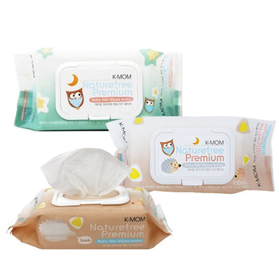 K-Mom -Natural Pureness Baby Wet Wipes Premium 100's ( Assorted)