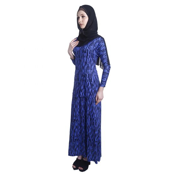 Lady Lara Nursing Dress (Blue Print)