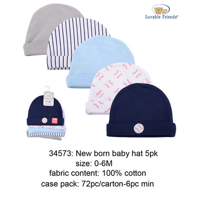 Luvable Friends 5pk Caps (Boy/Girl)