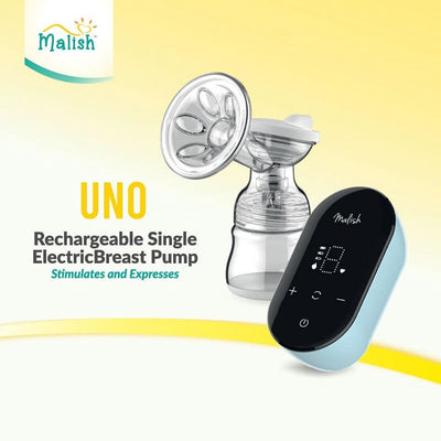 Malish Uno Rechargeable Single Breast pump + Free Gift [2 Years Service Warranty]
